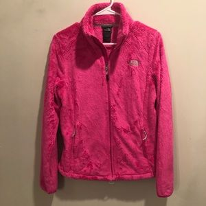 The north face fuzzy jacket pink soft